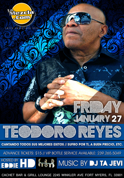 Friday Jan. 27 Teodoro Reyes Live at Cachet BAr & Grill Lounge