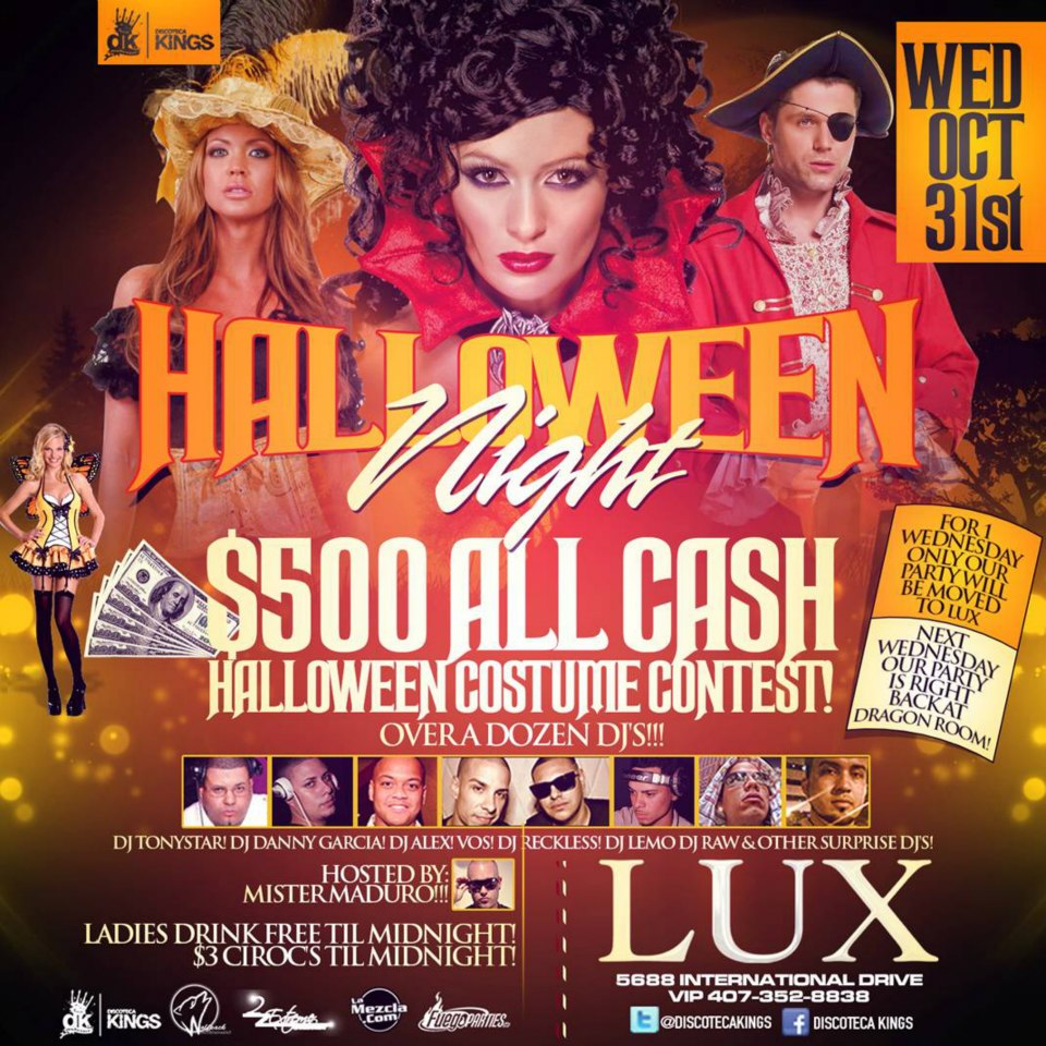 Lux Halloween Night Flyer