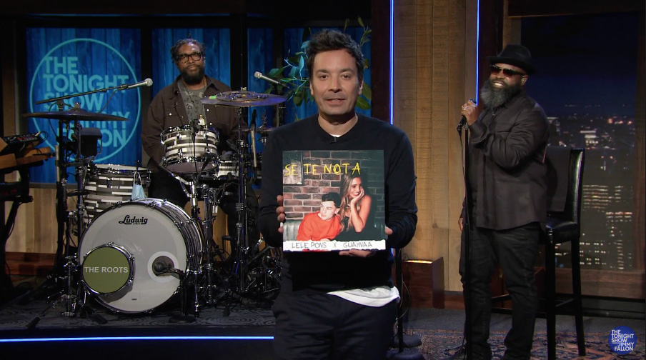 """Lele Pons and Guaynaa Performs """"Se Te Nota"""" on The Tonight Show with Jimmy  Fallon 